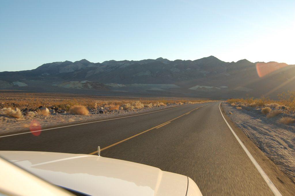 Death Valley met de auto