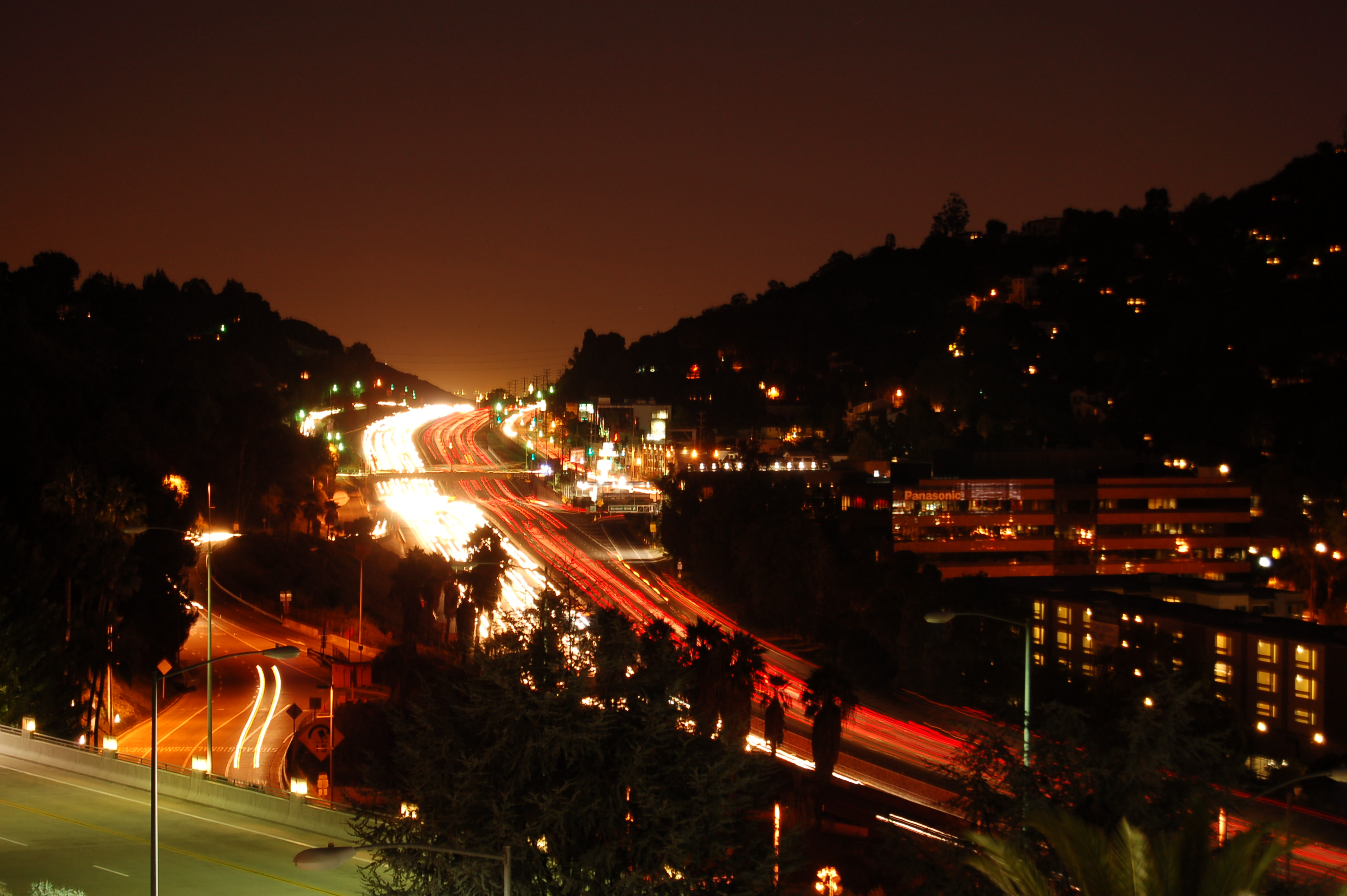 De snelweg van Los Angeles