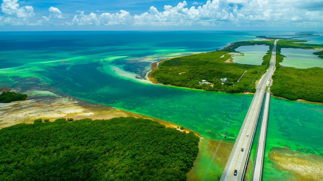 Overseas highway naar de Key West island