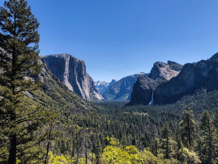 Uitzicht over Yosemite National Park